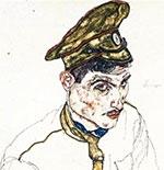 Egon Schiele, portret van Russische krijgsgevangene